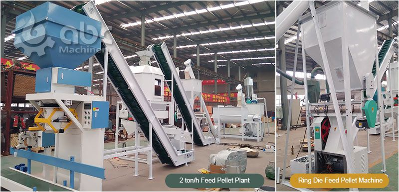 2 ton animal feed milling plant for poultry and livestock