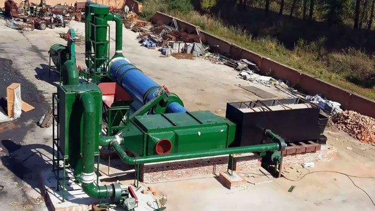 animal manure drying production line suitable for poultry, sheep, horse manure