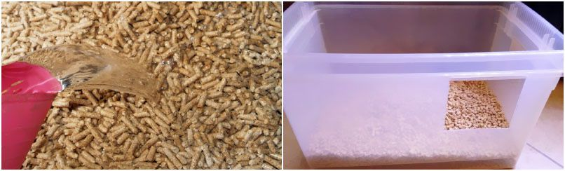 water absorption capability of animal wood pellet bedding