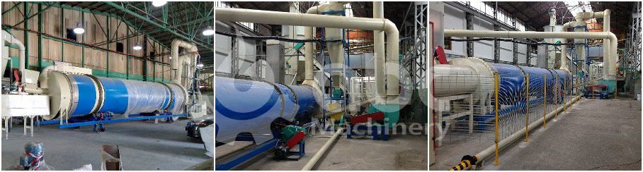 biomass pellet plant drying system for producing large scale pellets