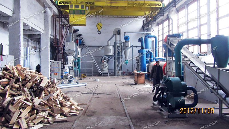 Biomass Pellet Production ~ Ton hour biomass pellet production equipment line in