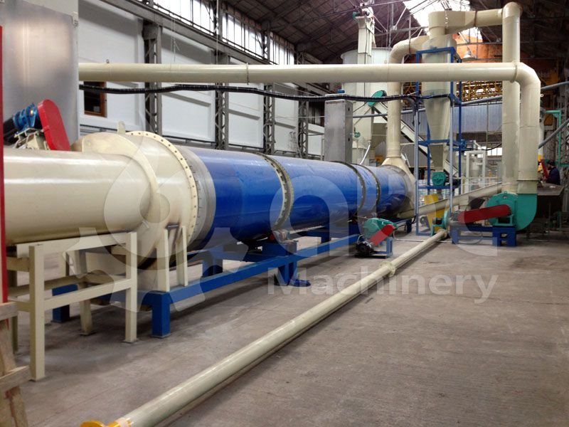biomass sawdust drying section of the pellet making company