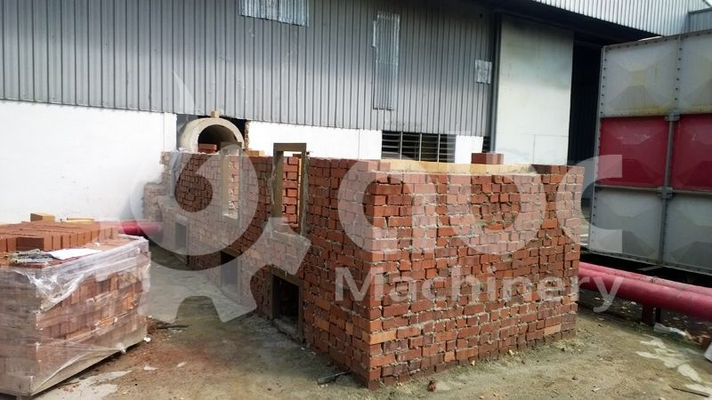 construction of biomass stove for drying production