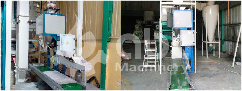 auto biomass wood pellets bagging machine