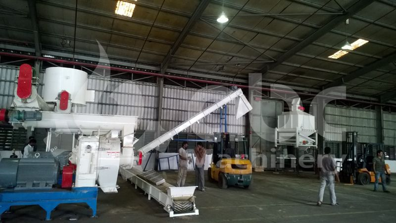 build a complete scale wood pellet production line with low cost