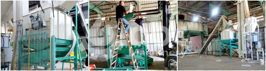 cooling machine for commercial scale wood pelletizing plant or factory