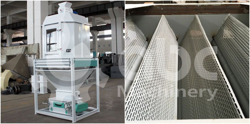 cooling machine for poultry feed pelletizer