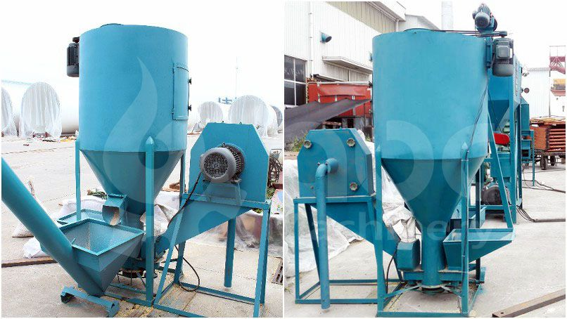crushing machine of this small animal feed pellet production plant