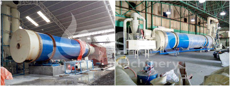 drum dryer for commercial scale turnkey wood pellet line project