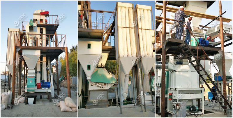 feed crushing, mixing and pelletizing machine