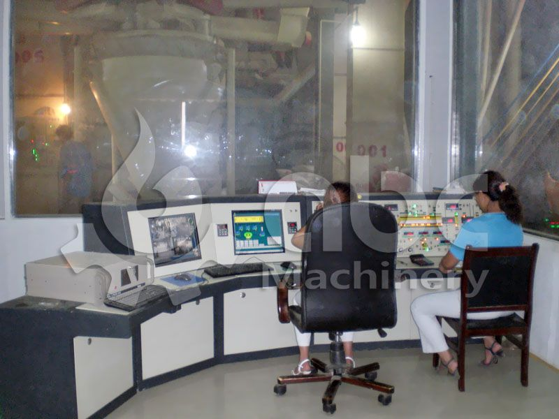 fish feed factory PLC control room