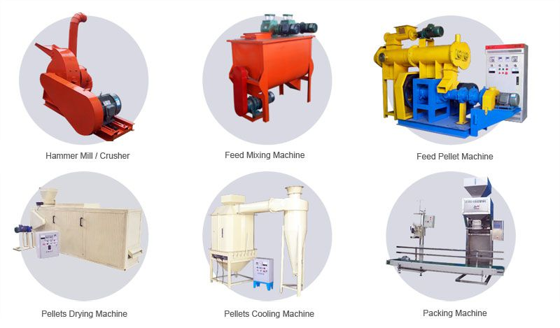 floating fish feed pellet mill plant for small scale aquatic feed production