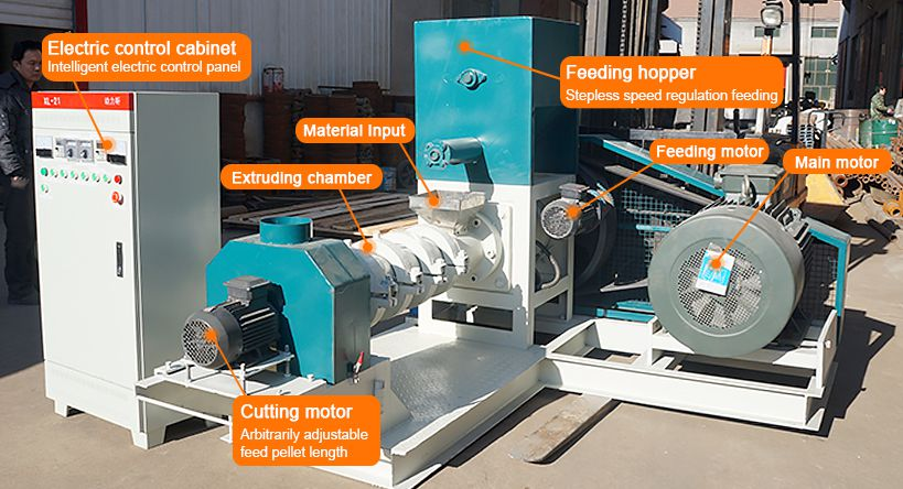 Floating Sinking Fish Feed Pellet Machinery