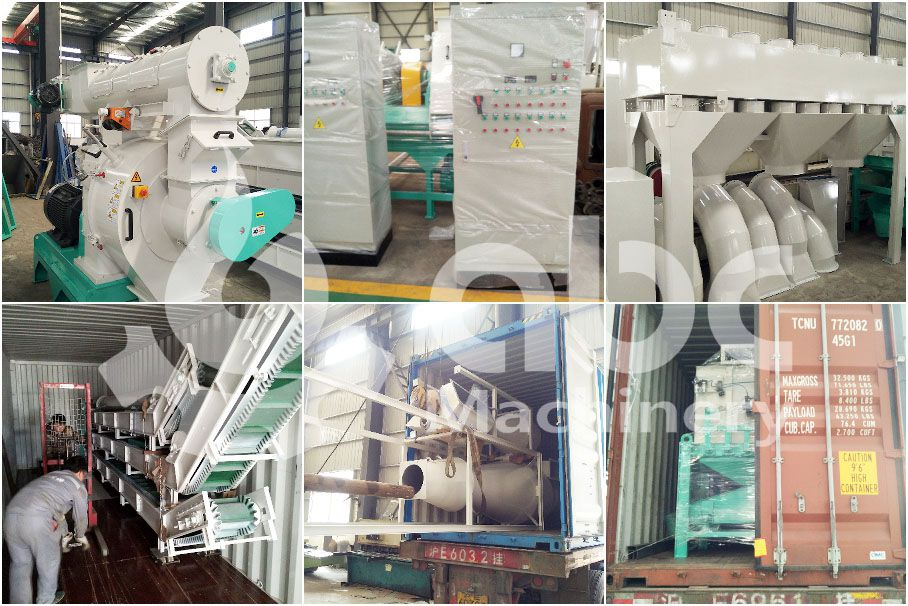 grass pellet production equipment for large scale pellet mill factory