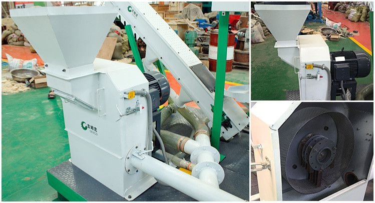 hammer mill wood crusher for small wood pelleting line