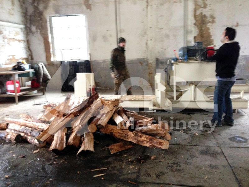 log spilitter for wood pelletizing mill