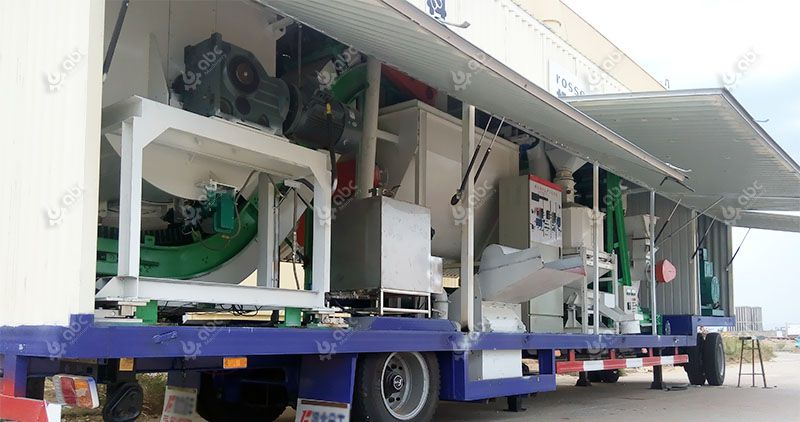 low cost movable cattle feed plant for small fodder processing line