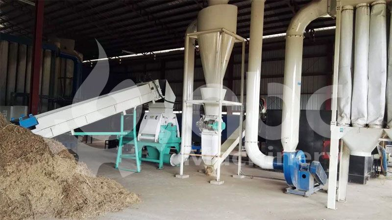 napier grass crushing process of the project