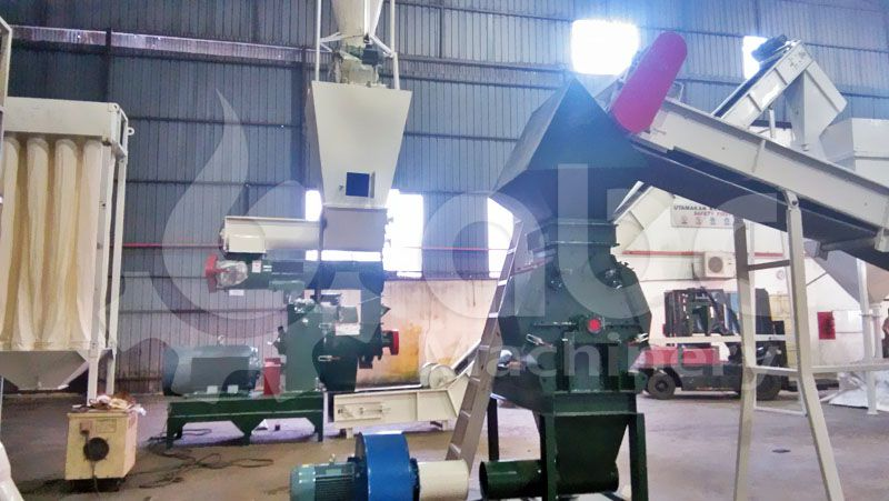 palm fiber processing machine included in the pellet plant project