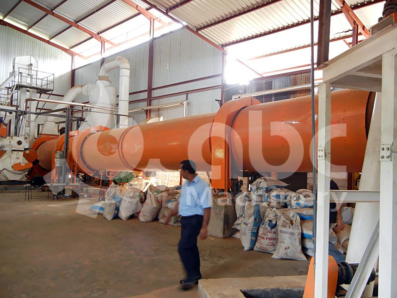 sawdust drying machinery in the complete wood-pellet line