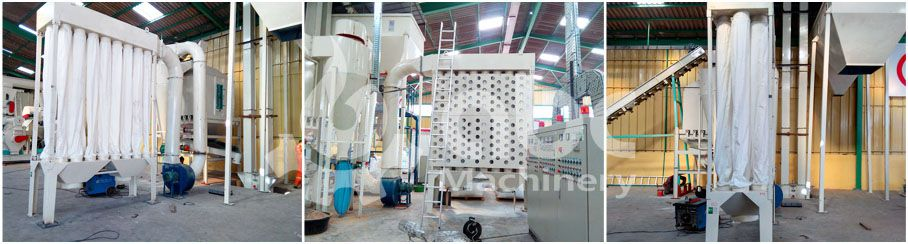 large scale pellet production dedusting system