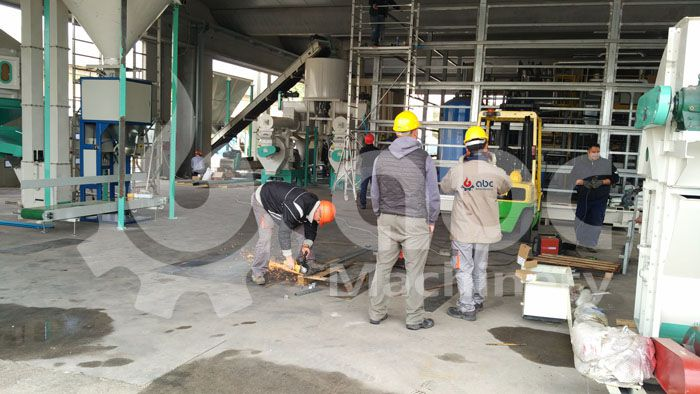 commercial scale wood pelletizing project field