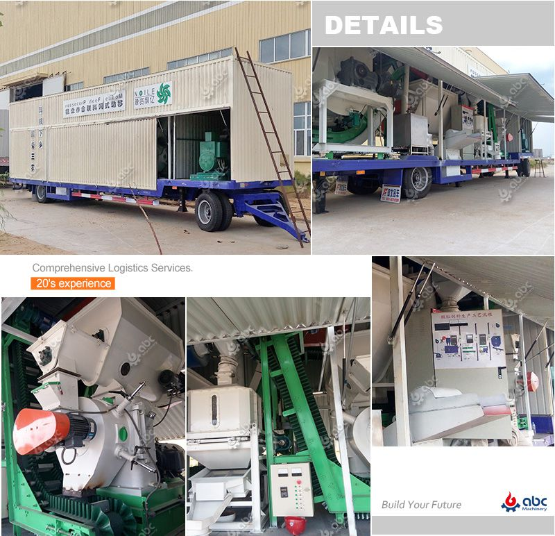 portable grass feed processing plant for making cattle farm