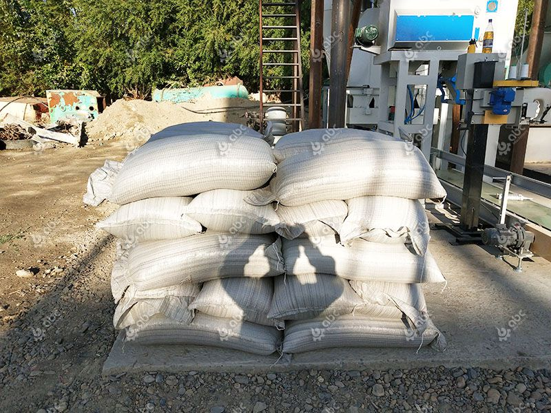 poultry feed and cattle feed in bags