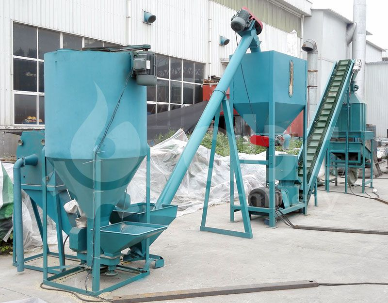 poultry feed pellet making machine - vertical fodder mixing equiplent
