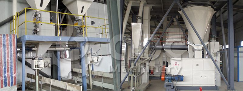 poultry feed plant bagging system - low cost project desgin