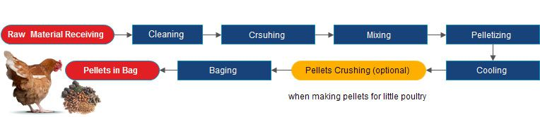 poultry feed plant process