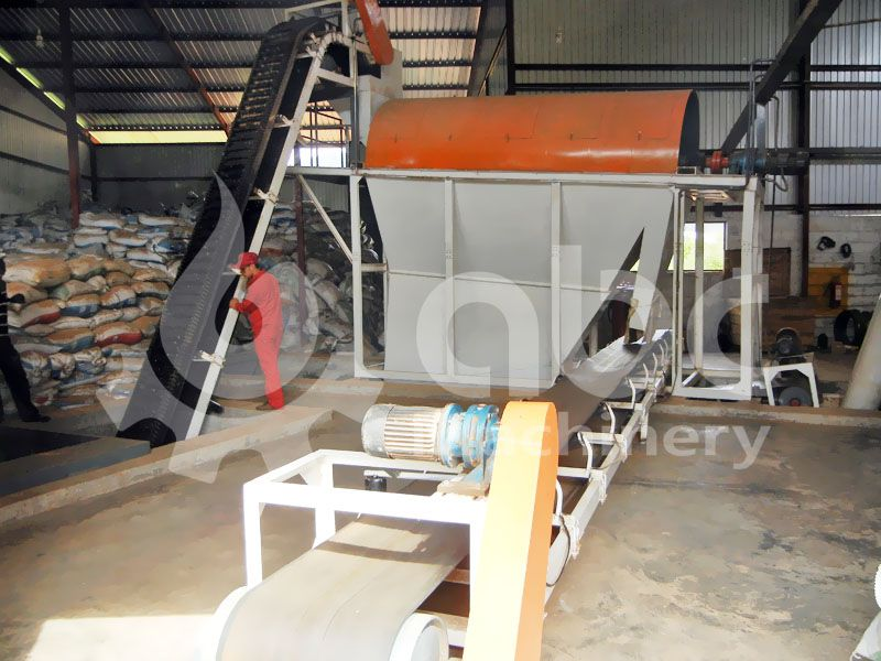 raw material pretreatment equipment in the plant
