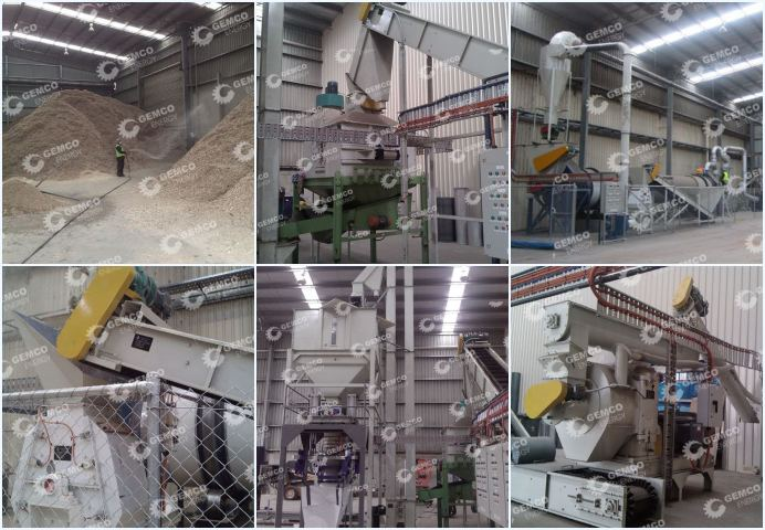sawdust pellet production plant