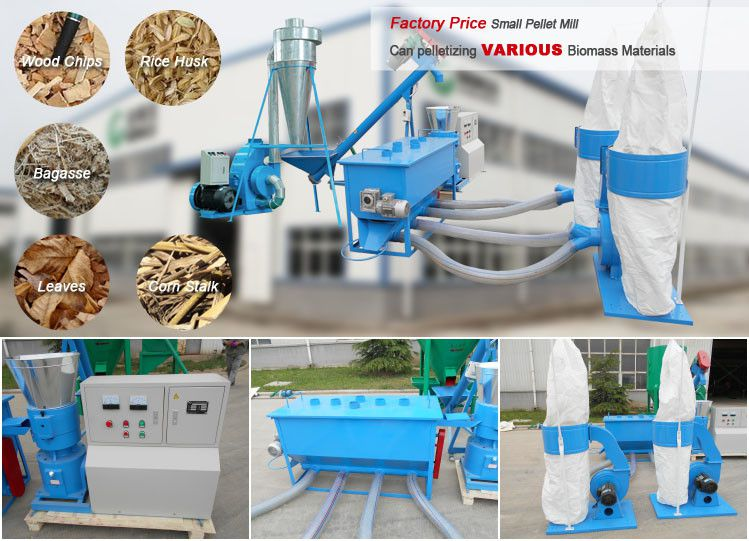 small biomass pellet making machine set for mini wood pellet production