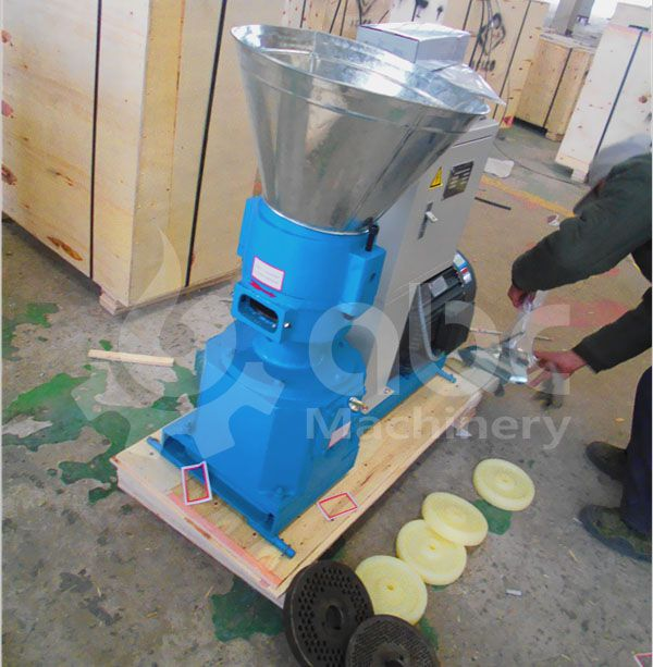 flat die cattle feed pellet mill for small scale animal feed production
