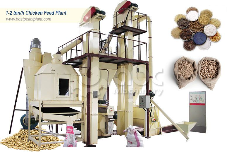 low cost small chicken feed processing plant