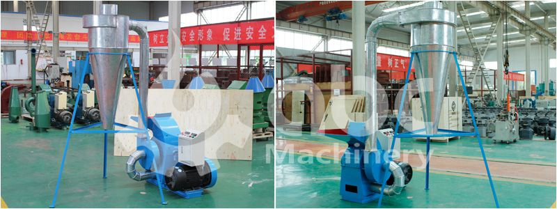 small pellet production line - wood crushing machine for sale