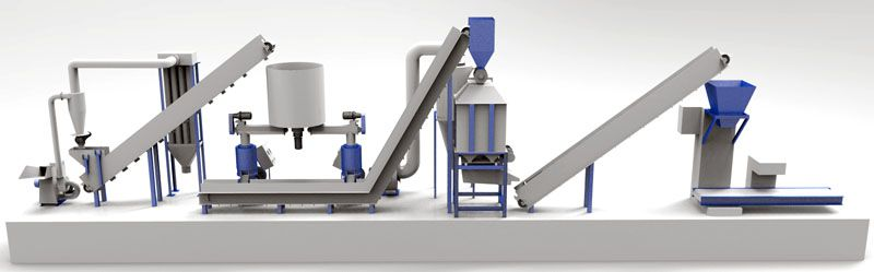 small scale wood pelleting plant