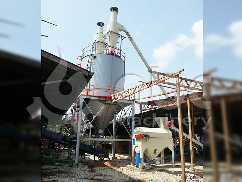 storage silo for crushed wood, sawdust
