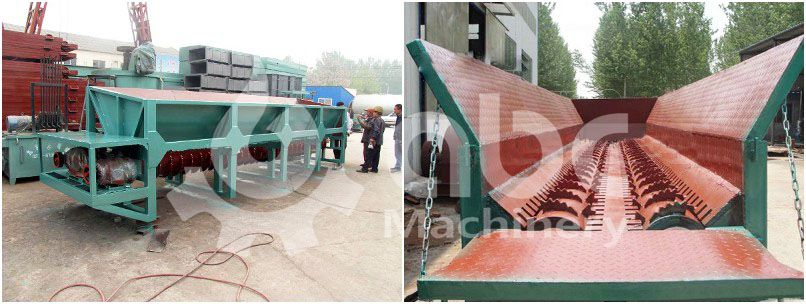 wood barking machine for complete production of wood pellets