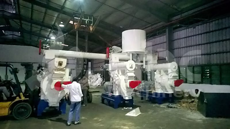 3 set of wood pellet machines included in the project