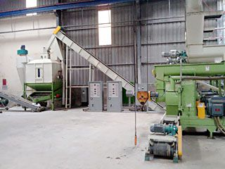 5TPH Wood Pellet Processing Machine Line in Vietnam
