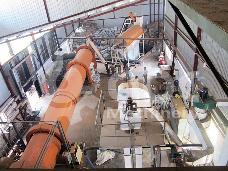 top view of the low cost wood pellets producing project