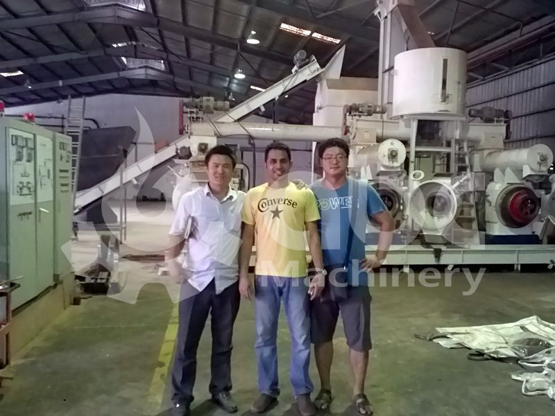 wood pellet production machine line project manager and clients