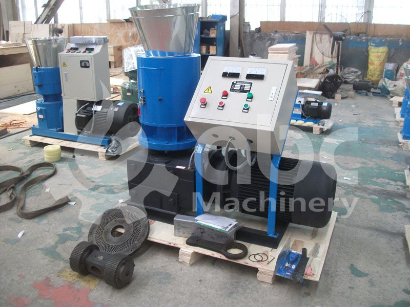 wood pelletizing machine with flat plate design for small production