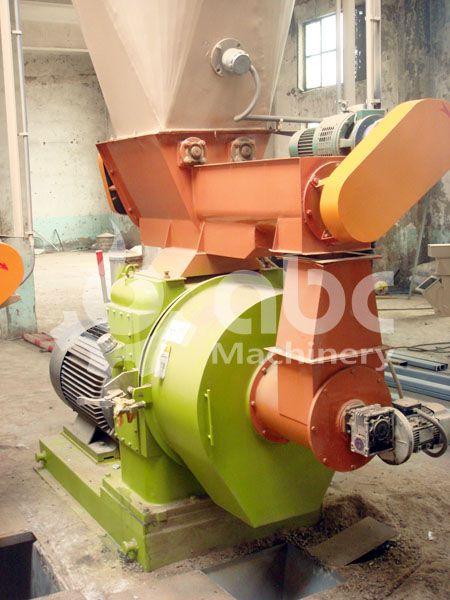 wood pelletizing facility included in the production line
