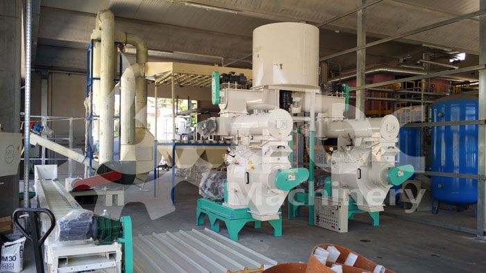 ring die type wood pelletizing machinery for sale