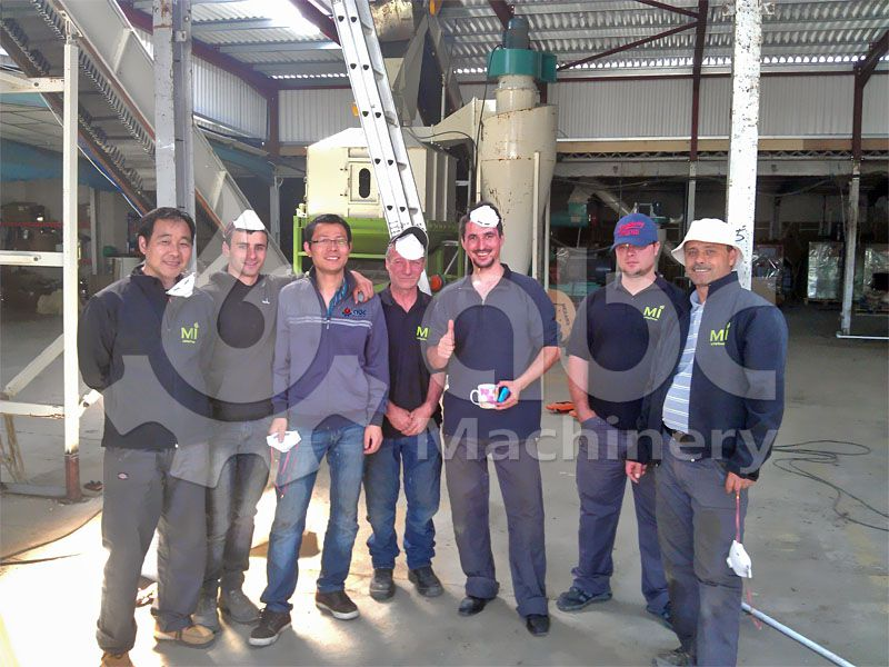 wood pelletizing system client and project manager