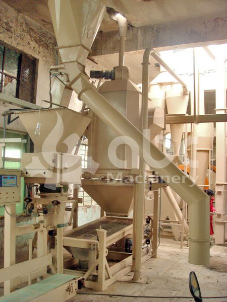 wood pellets bagging facility included in the pellet mill plant