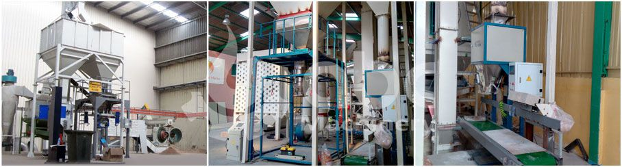 wood pellets bagging and sealing machine for large production line